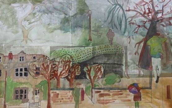 """Bērnu mākslas skolas plenēra izstāde """"Laba daba pilsētā"""""""