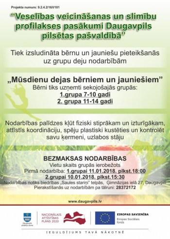 Turpinās pieteikšanās uz veselības veicināšanas aktivitātēm Daugavpilī!