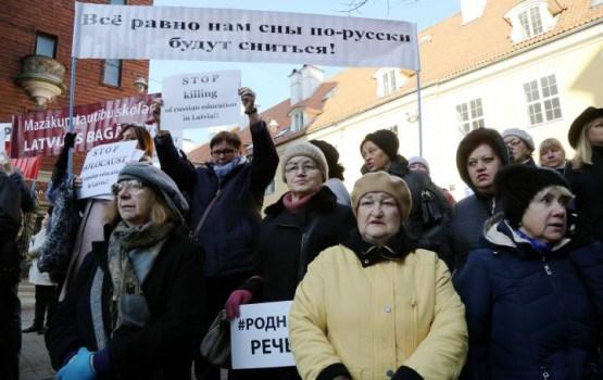 Šonedēļ kārtējo reizi protestēs pret pāreju uz mācībām latviešu valodā