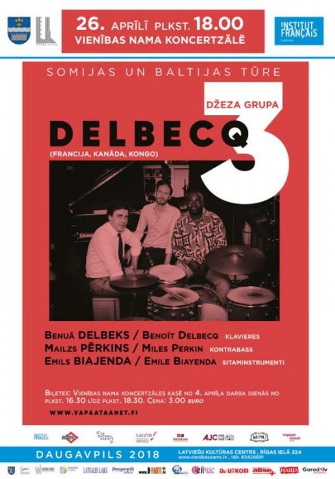 Džeza grupas DELBECQ 3 koncerts (Francija, Kanāda, Kongo)