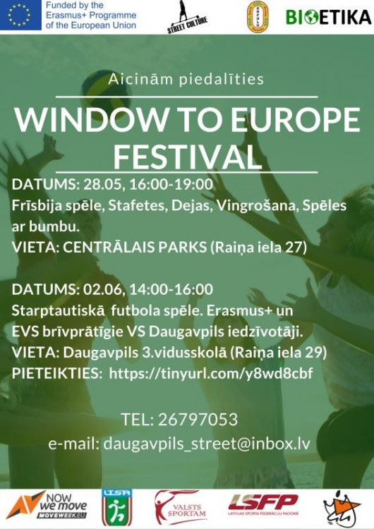 """Aicinām piedalīties starptautiskajā festivālā """"Window to Europe""""!"""
