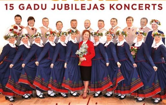 """Vienības nama koncertzālē vidējās paaudzes deju kolektīva """"Saime"""" 15 gadu jubilejas koncerts"""