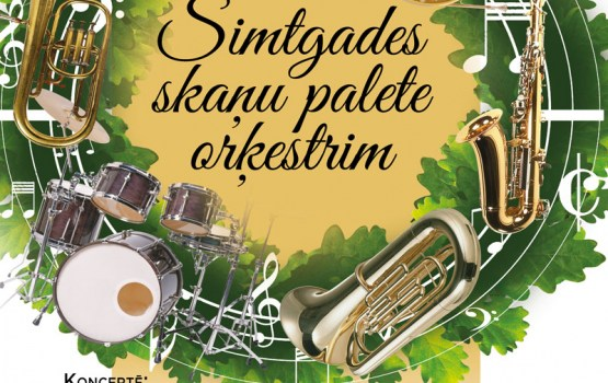 """Daugavpilī, Andreja Pumpura skvērā """"Simtgades skaņu palete orķestrim"""""""