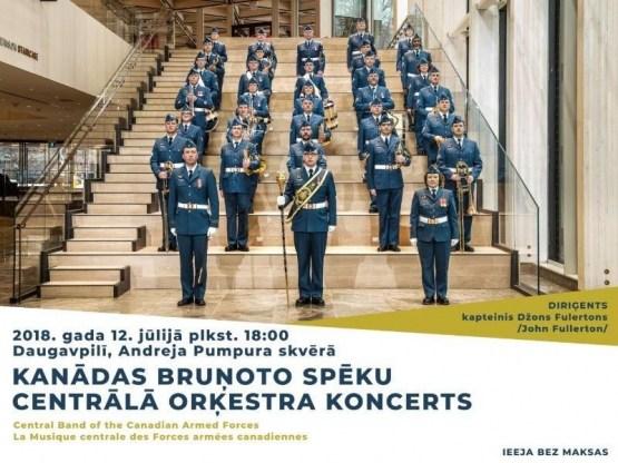 Kanādas Bruņoto spēku Centrālā orķestra koncerts Daugavpilī