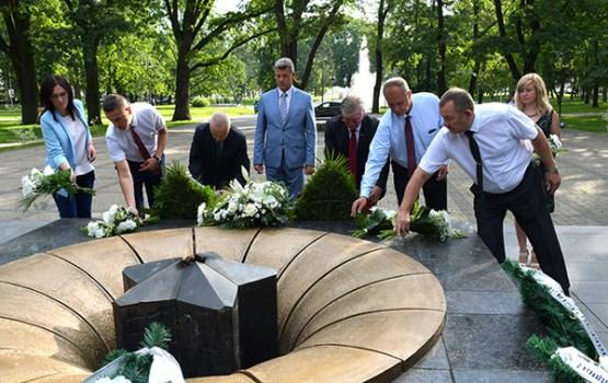 Daugavpilī godina pilsētas atbrīvotāju piemiņu