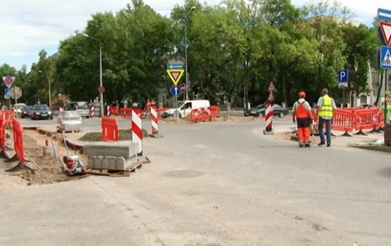 Tuvojas beigām remontdarbi Viestura ielas posmā no 18. Novembra līdz Kr. Valdemāra ielai