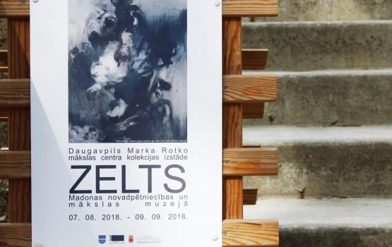 """Madonā atklāta Rotko centra kolekcijas izstāde """"ZELTS"""""""