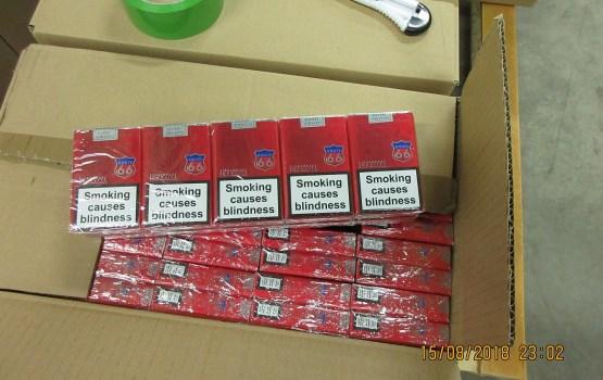 Muita kravā ar parketu atklāj vairāk nekā trīs miljonus cigarešu