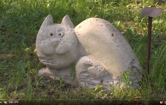 Raiņa mājā Berķenelē aizrit 20. mākslas akcija (VIDEO)