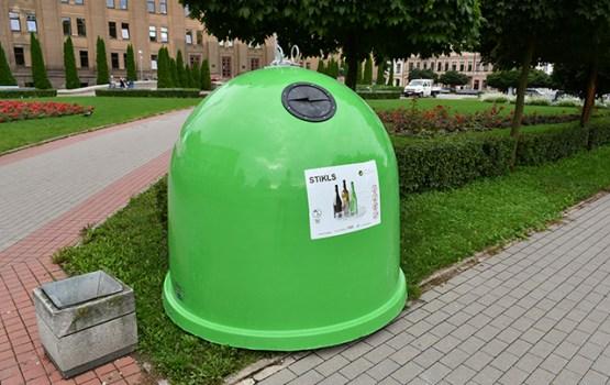 Daugavpilī uzstāda konteinerus stikla atkritumu savākšanai