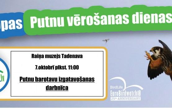 """Putnu barotavu izgatavošanas darbnīca Raiņa muzejā """"Tadenava"""""""