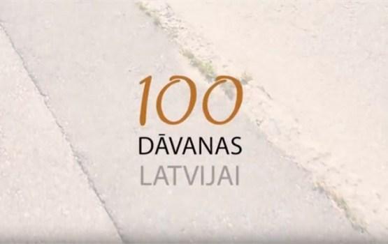 """Latvijas simtgadē iedzīvotājiem dāvina patriotisku video projektu """"100 dāvanas Latvijai"""""""