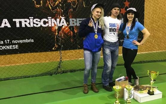 Daugavpils sportisti piedalījās Latvijas čempionātā klasiskajā spēka trīscīņā