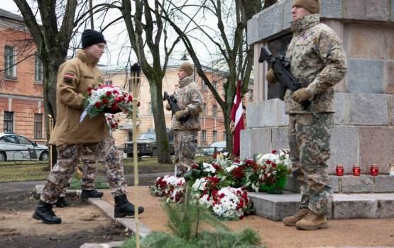 Daugavpils cietoksnī notika Latvijas simtgadei veltīti pasākumi